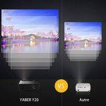 """YABER Vidéoprojecteur 4000 Lumens Soutien 1080P Full HD Home Cinéma Projecteur LED avec Deux Haut-parleurs Stéréo (de Qualité HiFi - Haute-fidélité) et 3 Ventilateurs Intégrées, 200"""" Affichage de la marque YABER image 3 produit"""