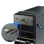 Yakamoz 1.1m Câble Audio Splitter 3.5mm Câble Adaptateur Jack Stéréo Audio 2 Mâles vers 1 Femelle en Aluminium pour Ordinateur de Bureau Ordinateur Portable Écouteur (Brun) de la marque Yakamoz image 1 produit