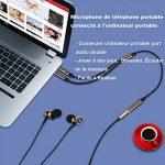 Yakamoz 1.1m Câble Audio Splitter 3.5mm Câble Adaptateur Jack Stéréo Audio 2 Mâles vers 1 Femelle en Aluminium pour Ordinateur de Bureau Ordinateur Portable Écouteur (Brun) de la marque Yakamoz image 4 produit