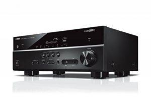 YAMAHA RX-V485 – Amplificateur Home Cinema 145W – Système Bluetooth, Wifi, Airplay, Multiroom – Compatible avec smartphones et ordinateurs – Noir de la marque Yamaha image 0 produit