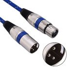Zerone Câbles XLR mâle vers Femelle 1/1.8/3/5/10/15/20m Micro câble Mini XLR 3Broches câble Audio XLR/Mic câble de raccordement pour amplificateurs Microphones Mélangeur de la marque Zerone image 3 produit