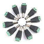 ZOEON Adaptateur DC Plug, 10 Paires 12V Mâle Femelle 2.1x5.5MM DC Prise Jack Adaptateur Connecteur pour Caméra CCTV de la marque ZOEON image 2 produit